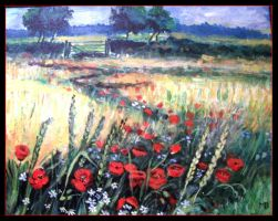 Poppies field by oxalysa