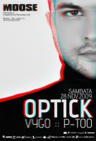 DJ Optick flyer 3D anaglyph by vygo