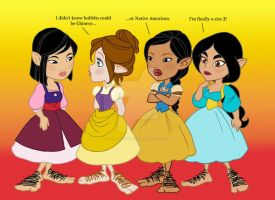 Disney Princess Hobbits 3 by SapphireGamgee