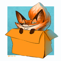 Fox in a Box by Katmomma