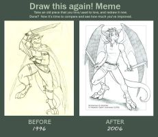 Draw This Again Meme by cybre