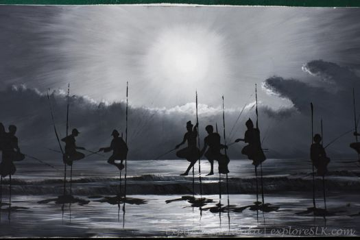 Painting of Fishermen by exploreSLK