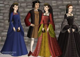 King Louis XII and His Queens by MoonMaiden37