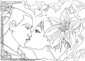 -Kiss Mulan and Shang- by lizzzy-art