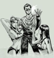 Alcide and Babes by russ-artiste