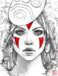 Princess Mononoke Sketch by serafleur