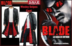 Wesley Snipes Black Blade Trench Coat by jessicanelson1265