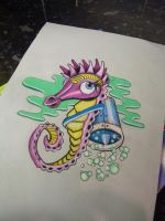 Crazy Seahorse by mnemonic30
