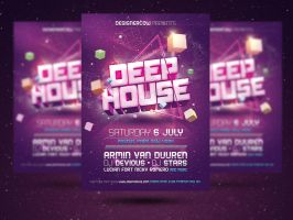 Deep House Flyer Template by designercow