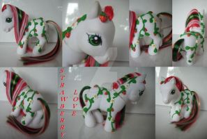 My little Pony Custom Strawberry Love by BerryMouse