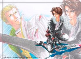 Squall n Seifer fighting by Lynling