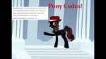 OC Pony Codes by Blackbird2