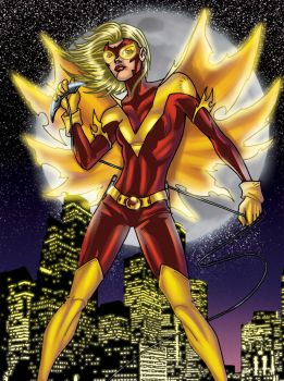 flamebird colored by JamieFayX