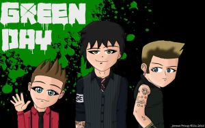 Green Day Wallpaper by Jerome1234