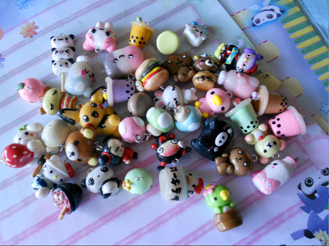 Polymer Clay Charms by misoandramen