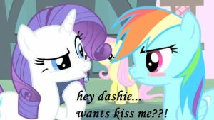kiss the girl dashie.... by loveponies3134214