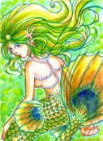 Pretty as a Peacock ACEO by belyaal