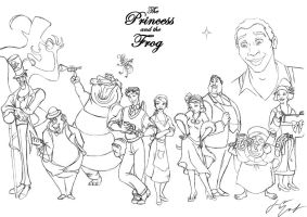 Princess and the Frog Ensemble by PharMafia-Soldier