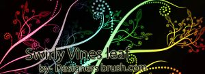 Swirly Vines leaf Photoshop brushes by designersbrush