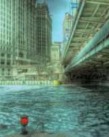 Frozen Chicago River III by spudart