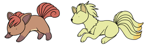 Vulpix and Ninetales by HappyCrumble