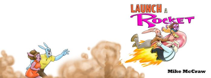 Launch A Rocket children's book cover by mikethewolf