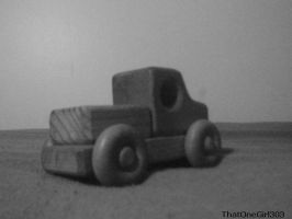 Black and White Wooden Truck by ThatOneGirl303