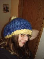 Blue and Yellow Hat by audreydc1983