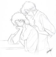 Sketchy 'Ferre and Enjolras by cillabub