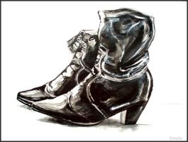 Painting - Shoes by Ennete