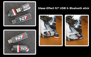 Mass Effect N7 USB n Bluetooth by FeveredDreams