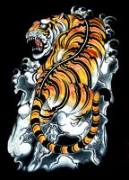 Tshirt Logoes : Japanese Tiger by emperorsss