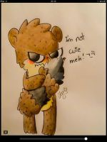 Rigby: I'm not cute, meh!! by alexdream12