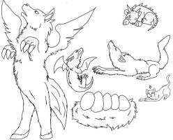 DEAFHPN's Free Lineart by Animal-Adoption-Club