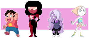 Chibi Crystal Gems by PolarStar