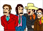 Anchorman - Ron and the team. by Salvini
