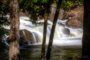 Monte-a-Peine Waterfall - lowest section HDR by digswolf