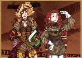 Copic steampunk girls by Sio64
