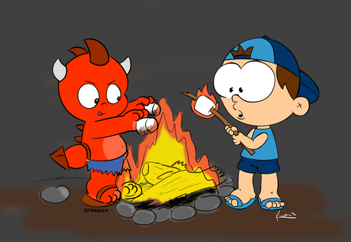 Collaboration - Campfire Buds by allthecircles