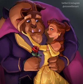 Beauty and the Beast by SteveMillersArt