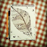 Line Art - Leaf by Clive-Coops