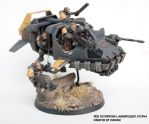 Red Scorpions Land Speeder Storm by ARKURION