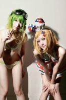 Bikini Rin and Gumi by EvangelineMakikiyam