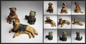 Finished pet portraits by suzannewolf