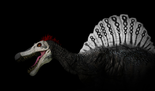 Primal Carnage Skin Idea - Punk Spinosaurus by T-rexHunter2000