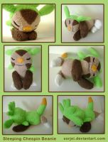 Sleeping Chespin by sorjei
