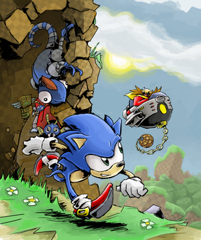 Sonic in the GHZ again by gsilverfish