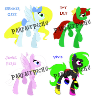 Pony Adoptables~ (All Sold) by ParfaitPichu
