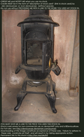 Victorian Wood Stove Stock 2 by DeviousRose