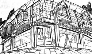 sketch of THE BRICKHOUSE BAR by ShoNuff44